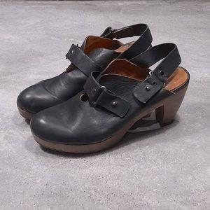 Coclico Soft Italian Leather Clogs, Sz 40